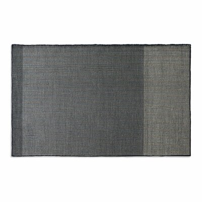 Bousta Hand-Woven Wool Black/Gray Area Rug Rug Size: 5 x 8
