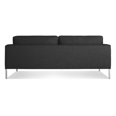 Paramount Medium Sofa Body Fabric: Libby Charcoal, Leg Color: Stailess Steel