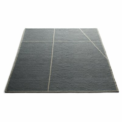 Collet Hand-Woven Wool Gray Area Rug Rug Size: 9 x 12