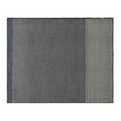 Bousta Hand-Woven Wool Black/Gray Area Rug Rug Size: 8 x 10