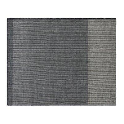 Bousta Hand-Woven Wool Black/Gray Area Rug Rug Size: 8 x 10