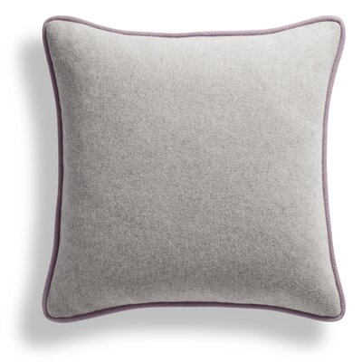 Duck Duck Square Pillow Color: Thurmond Charcoal/Light Gray/Lilac Piping