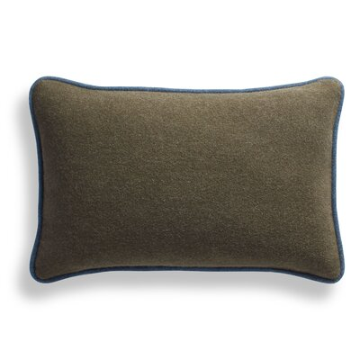 Duck Duck Lumbar Pillow Color: Thurmond Olive/Light Gray/Marine Blue Piping, Size: 10 x 17