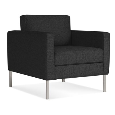 Paramount Armchair Body Fabric: Libby Charcoal, Leg Color: Stailess Steel