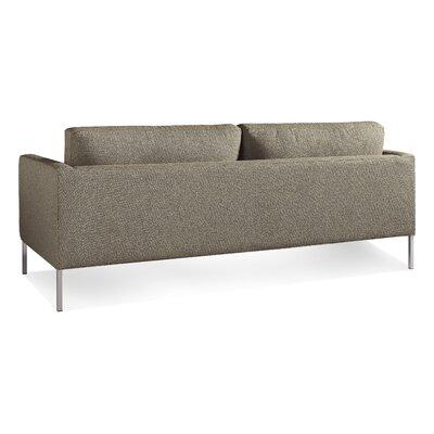 Paramount Medium Sofa Body Fabric: Sanford Black, Leg Color: Stailess Steel