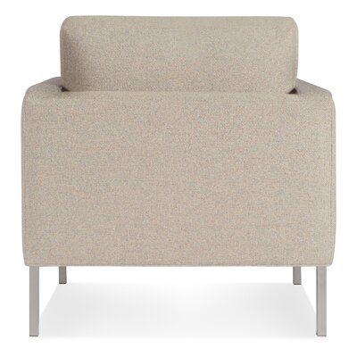 Paramount Armchair Body Fabric: Sanford Oatmeal, Leg Color: Stainless Steel