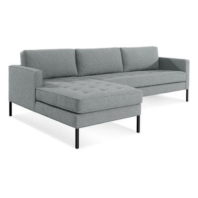 Paramount Sofa with Chaise Body Fabric: Sanford Ceramic, Leg Color: Metal, Sectional Orientation: Left Hand Facing