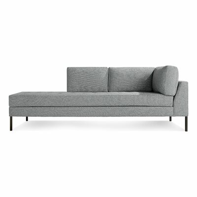 Paramount Daybed Body Fabric: Sanford Ceramic, Leg Color: Metal, Orientation: Left Hand Facing