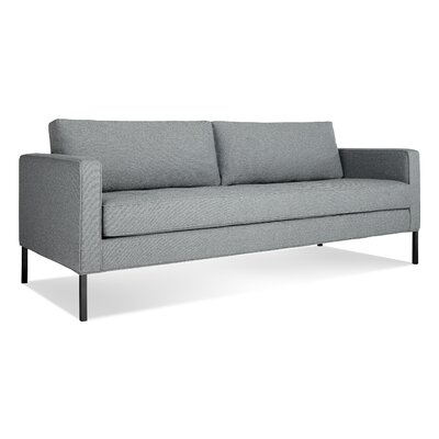 Paramount Medium Sofa Body Fabric: Sanford Ceramic, Leg Color: Blackened metal