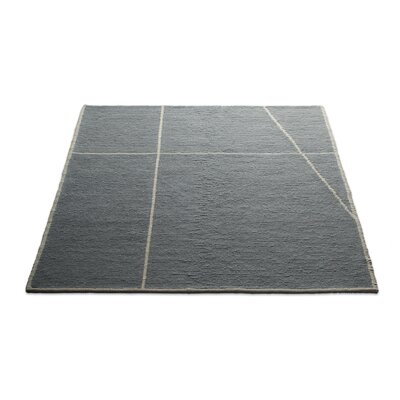 Collet Hand-Woven Wool Gray Area Rug Rug Size: 8 x 10