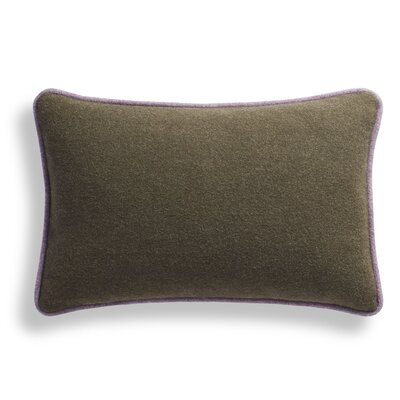 Duck Duck Lumbar Pillow Color: Thurmond Olive/Wheat/Lilac Piping, Size: 13 x 19