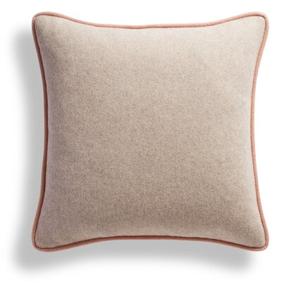 Duck Duck Square Pillow Color: Thurmond Citron/Wheat/Blush Piping