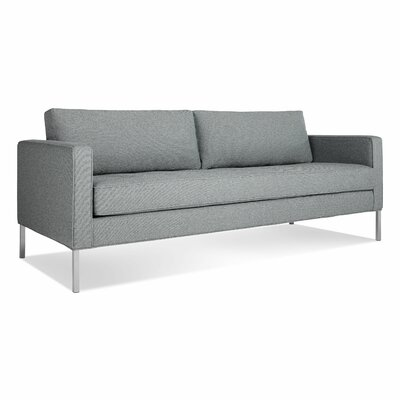 Paramount Medium Sofa Body Fabric: Sanford Ceramic, Leg Color: Stailess Steel