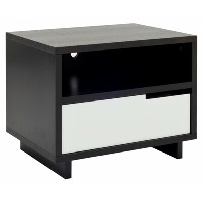 Modu-Licous Bedside Table Color: Graphite on Oak