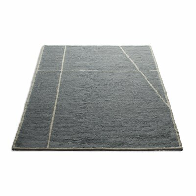 Collet Hand-Woven Wool Gray Area Rug Rug Size: 5 x 8