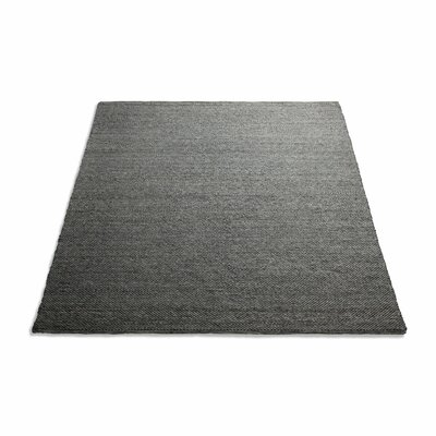 Sinder Hand-Woven Wool Charcoal Area Rug Rug Size: 5 x 8