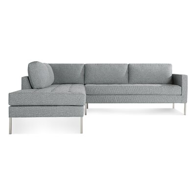 Paramount Sectional Sofa Body Fabric: Sanford Ceramic, Leg Color: Stainless Steel, Sectional Orientation: Left Hand Facing