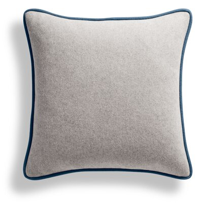 Duck Duck Square Pillow Color: Thurmond Olive/Light Gray/Marine Blue Piping