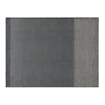 Bousta Hand-Woven Wool Black/Gray Area Rug Rug Size: 9 x 12