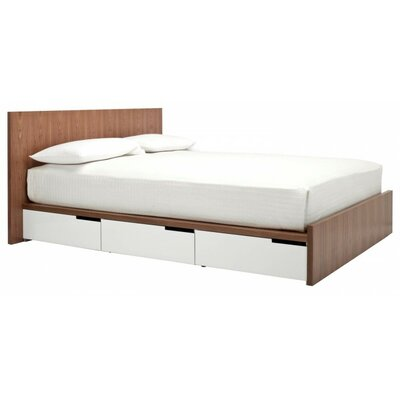 Modu-Licious Platform Bed Color: White/Walnut, Size: Full