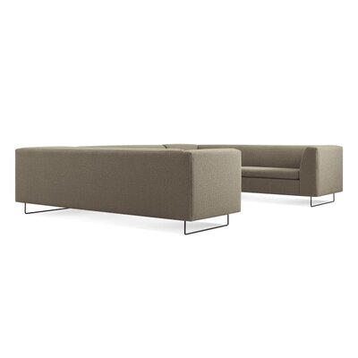 Bonnie and Clyde U-Shaped Sectional Sofa Body Fabric: Fabric - Sanford Black