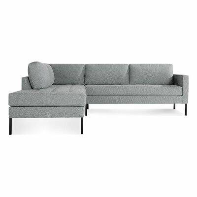 Paramount Sectional Sofa Body Fabric: Sanford Ceramic, Leg Color: Metal, Sectional Orientation: Left Hand Facing