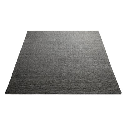 Sinder Hand-Woven Wool Charcoal Area Rug Rug Size: 9 x 12