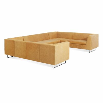 Bonnie and Clyde U-Shaped Sectional Sofa Body Fabric: Leather - Camel