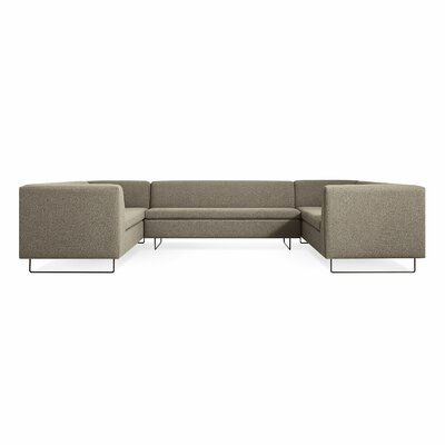 Bonnie and Clyde U-Shaped Sectional Sofa Body Fabric: Sanford Black