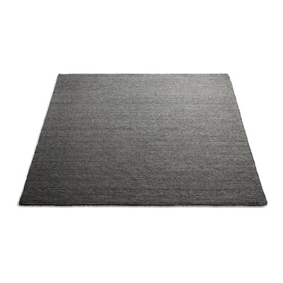 Sinder Hand-Woven Wool Charcoal Area Rug Rug Size: 8 x 10