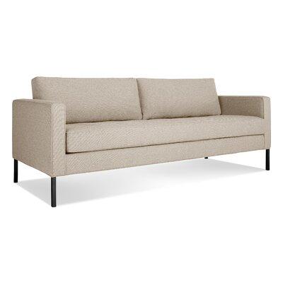 Paramount Medium Sofa Body Fabric: Sanford Oatmeal, Leg Color: Blackened metal