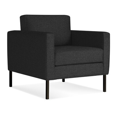 Paramount Armchair Body Fabric: Libby Charcoal, Leg Color: Metal