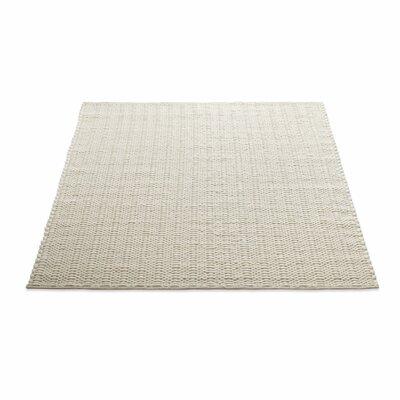 Uni Hand-Woven Wool Cream Area Rug Rug Size: 8 x 10