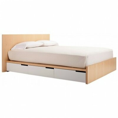 Modu-Licious Bed Color: Maple/White/Natural, Size: King