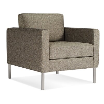 Paramount Armchair Body Fabric: Sanford Black, Leg Color: Stailess Steel