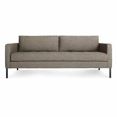 Paramount Medium Sofa Body Fabric: Sanford Black, Leg Color: Blackened metal