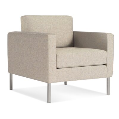 Paramount Armchair Body Fabric: Sanford Oatmeal, Leg Color: Stailess Steel