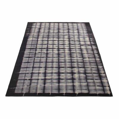 Murl Hand-Woven Wool Black Area Rug Rug Size: 5 x 8