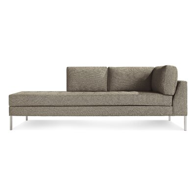 Paramount Daybed Body Fabric: Sanford Black, Leg Color: Stainless Steel, Sectional Orientation: Left Hand Facing