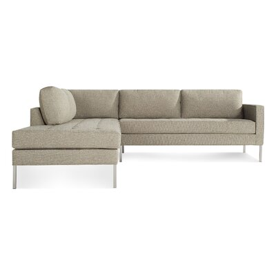 Paramount Sectional Sofa Body Fabric: Sanford Ash, Leg Color: Stainless Steel, Sectional Orientation: Left Hand Facing