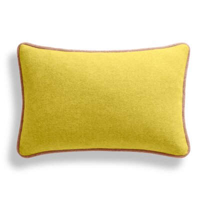 Duck Duck Lumbar Pillow Color: Thurmond Citron/Wheat/Blush Piping, Size: 10 x 17