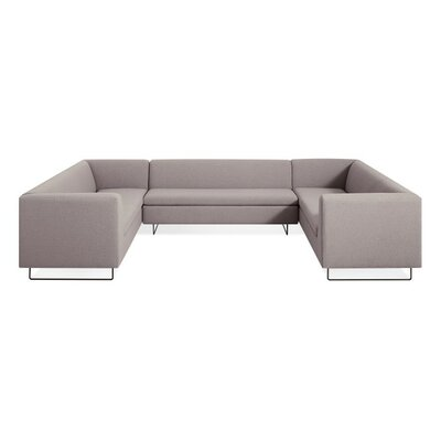 Bonnie and Clyde U-Shaped Sectional Sofa Body Fabric: Sanford Purple