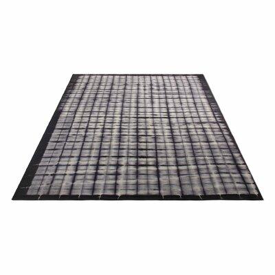 Murl Hand-Woven Wool Black Area Rug Rug Size: 8 x 10