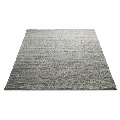 Sinder Hand-Woven Wool Gray Area Rug Rug Size: 9 x 12