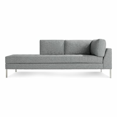 Paramount Daybed Body Fabric: Sanford Ceramic, Leg Color: Stainless Steel, Sectional Orientation: Left Hand Facing