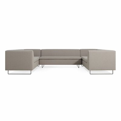 Bonnie and Clyde U-Shaped Sectional Sofa Body Fabric: Condit Silver Gray