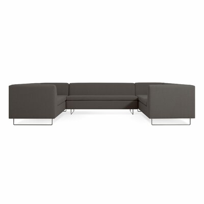 Bonnie and Clyde U-Shaped Sectional Sofa Body Fabric: Condit Charcoal