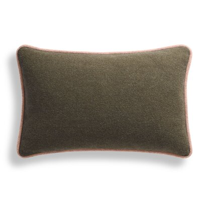 Duck Duck Lumbar Pillow Color: Thurmond Olive/Lilac/Blush Piping, Size: 13 x 19
