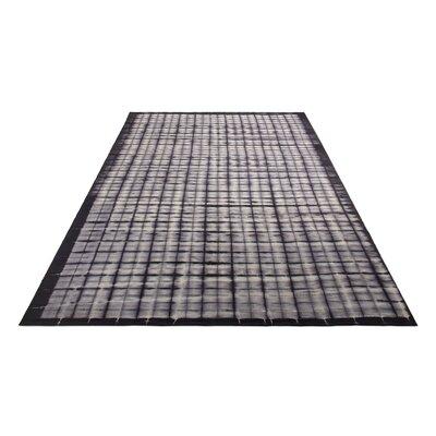 Murl Hand-Woven Wool Black Area Rug Rug Size: 9 x 12