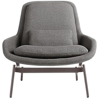 Field Lounge Chair Body Fabric: Edwards Charcoal